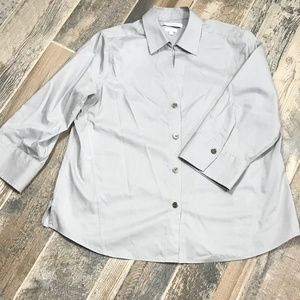 Foxcroft Women Dress Shirt Non-Iron Stretch